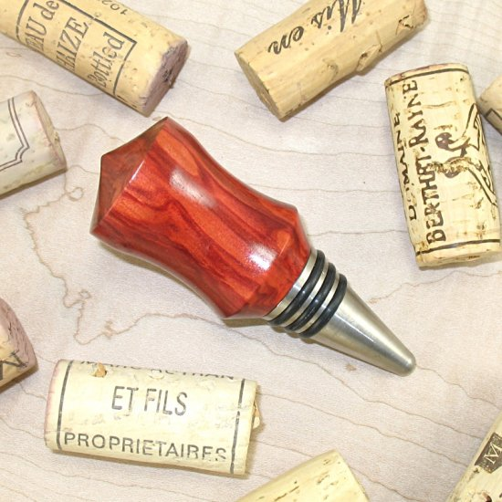 #WBS1013 - Wooden Wine Bottle Stopper - Click Image to Close