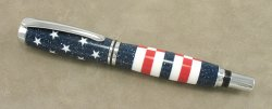 #1172 - Acrylic USA Flag Theme Rollerball Pen