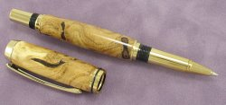 #1179 - Russian Olive Wood Burl Rollerball Pen