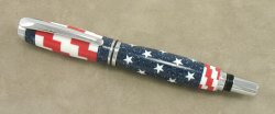 #1171 - Acrylic USA Flag Theme Rollerball Pen