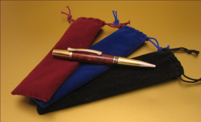#VDP1001 - Pen/Pencil Velour Drawstring Pouches - Click Image to Close